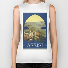 Vintage poster - Assisi Biker Tank