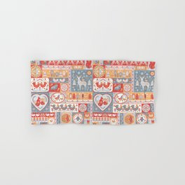 Decorative Pattern in Patchwork Style. Hand & Bath Towel