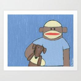Sock Monkey 69 Art Print