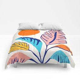Summer Tropical Still Life / Plant Illustration Comforters