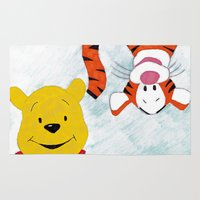 winnie the pooh Area & Throw Rugs featuring winnie the pooh and tigger by Art_By_Sarah