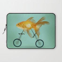 2 wheeled goldfish Laptop Sleeve