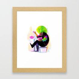 Superdad - Bookworms United Framed Art Print