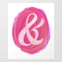 Thick Swirl Ampersand Warm Art Print