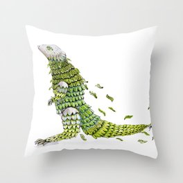 Lizard. Defoliating Throw Pillow