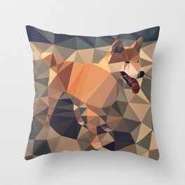 Triangular shiba inu Throw Pillow