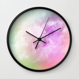 NEPHELAI SERIES Rainbow nubes Wall Clock