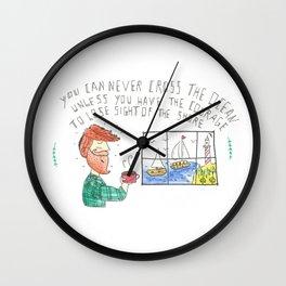 Sight of the shore Wall Clock