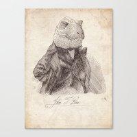 bouletcorp Canvas Prints featuring John T. Rex by Bouletcorp