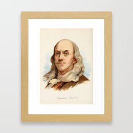 Our Country 1891 - Benjamin Franklin Framed Art Print