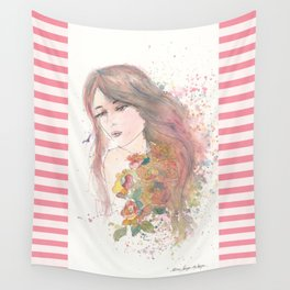 Never Not A Lovely Girl Wall Tapestry