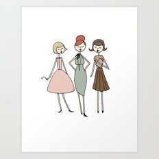Betty, Joan and Peggy Art Print