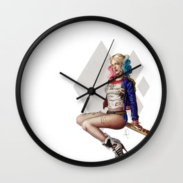 Daddy's lil monster - Harley Quinn Wall Clock
