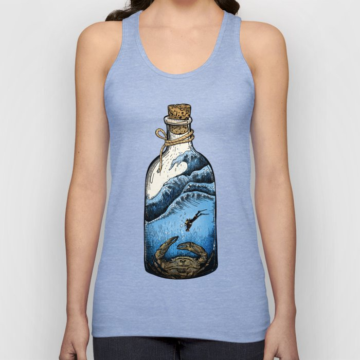 Deep blue bottle Unisex Tank Top