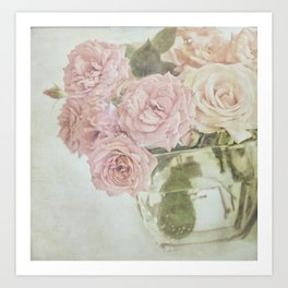 Between roses. Art Print