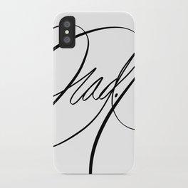 Rad. Black and White iPhone Case