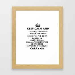 Carry on playing D&D Framed Art Print