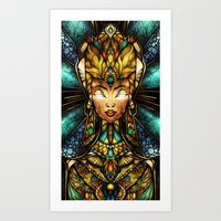 mandie manzano Art Prints featuring Nefertiti by Mandie Manzano
