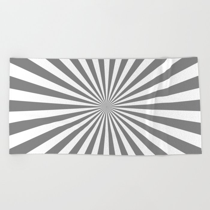 Starburst (Gray/White) Beach Towel