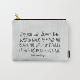 Ralph Waldo Emerson: Beautiful Carry-All Pouch