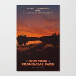 Nopiming Provincial Park Poster Canvas Print