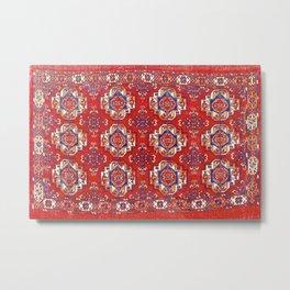 Tekke Torba Antique Turkmen Tribal Rug Print Metal Print
