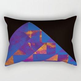 Blue Mountains Abstract Rectangular Pillow