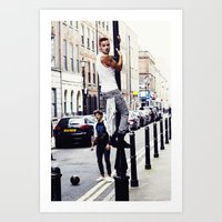 liam payne Art Prints featuring Liam Payne by Becca / But-Like-How