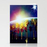 coachella Stationery Cards featuring Coachella Palms by Jason Chase