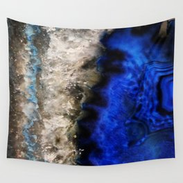 Blue Geode Wall Tapestry