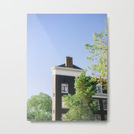 Amsterdam architecture   Fine art travel photography print from The Netherlands  Metal Print
