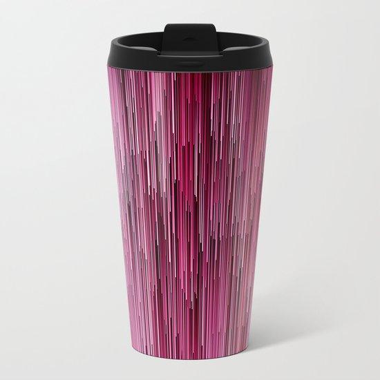Planet Pixel Cotton Candy Pink Metal Travel Mug