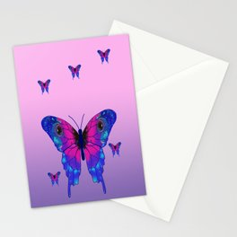Butterfly Phone Pouch Design Purple Stationery Cards
