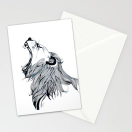 Growling Lion Stationery Cards