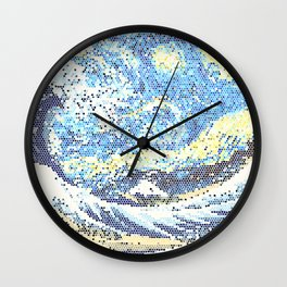 Starry Night Stained Glass Wall Clock