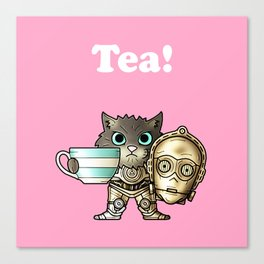 Tea C3PCat Pink Canvas Print