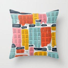 Cinque Terre Houses Throw Pillow