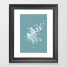 Flower Bird Framed Art Print