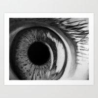 Macro Eye Art Print