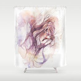 If you excuse me, I'll scream Shower Curtain