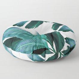 Banana leaf, Tropical palm leaf, banana palm, Flowing palms, blues, turquoise, Hawaii, beach decor Floor Pillow
