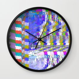 landscape collage #24 Wall Clock