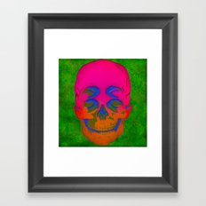 the 4i skull stencil art - 3D Framed Art Print
