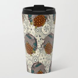 hare tortoise mandala Travel Mug