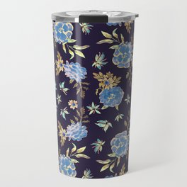 Dark Floral Travel Mug