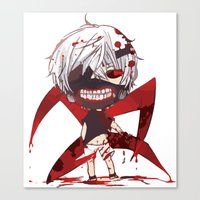 tokyo ghoul Canvas Prints featuring TOKYO GHOUL by enzouke