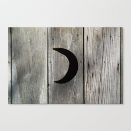 Outhouse Moon Canvas Print