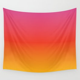 pink red orange yellow evening sky gradient Wall Tapestry