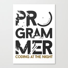 Programmer : Coding at the night Canvas Print
