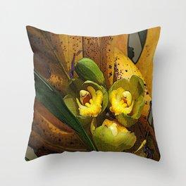 Banana Rama Ding Dong Throw Pillow
